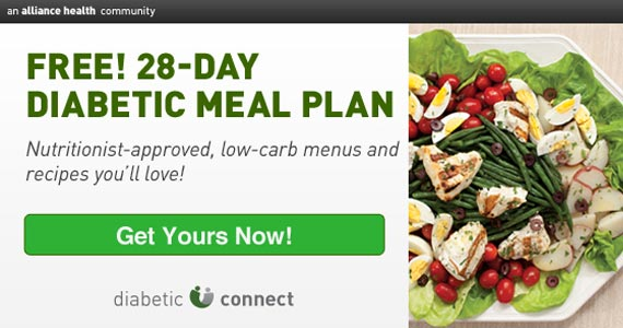 FREE 28-Day Diabetic Meal Plan