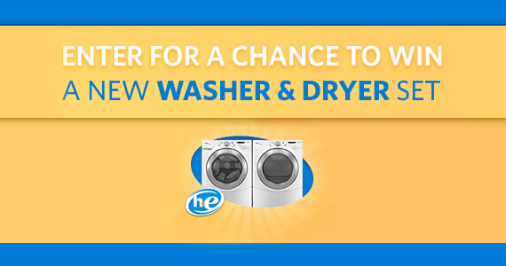 Win a New Washer & Dryer