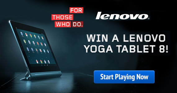 Win a Lenovo Yoga Tablet 8 on Daily Break