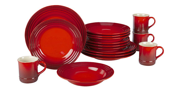 Win a 16-Piece Dinnerware Set from Le Creuset