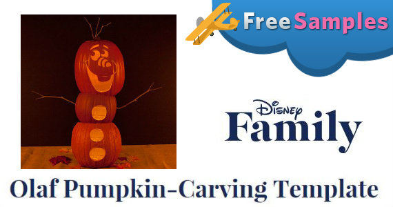 Free Olaf Pumpkin Carving Template