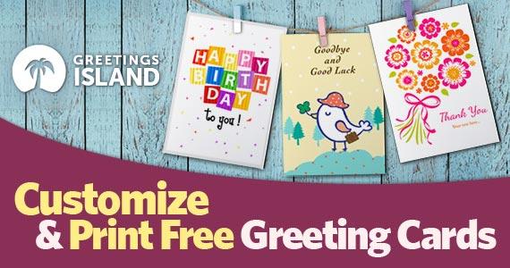 Customize & Print Free Greeting Cards
