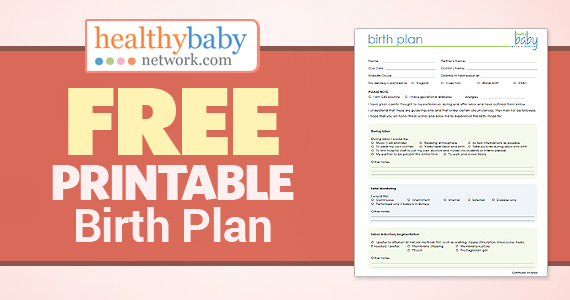 Free Printable Birth Plan
