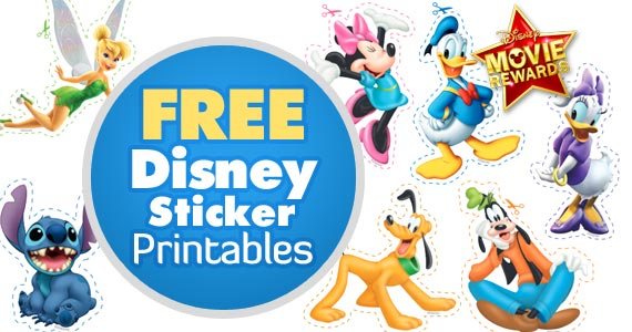 Free Disney Sticker Printables