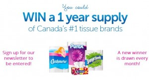 Win 1 Year Supply of Tissue Products
