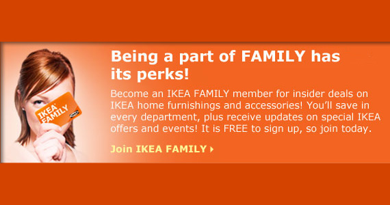 Join the IKEA Family for Great Perks