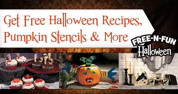 Free Halloween Recipes, Pumpkin Stencils & More