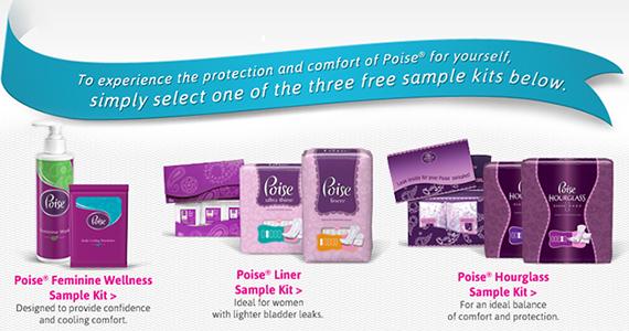Free Light Bladder Leakage Sample Kits From Poise