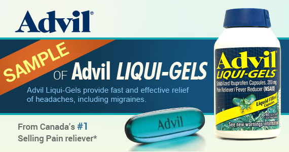 Sample of Advil Liqui-Gels