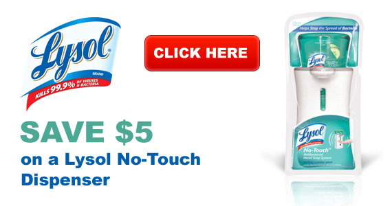Save $5 on a Lysol No-Touch Dispenser