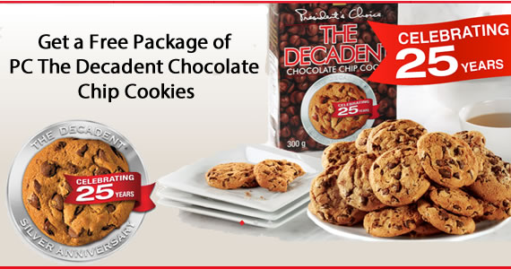 Get a Free Package of PC The Decadent Chocolate Chip Cookies