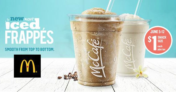 June 5-12 $1 Snack Size Iced Frappes at McDonald's