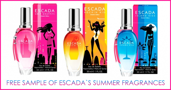 Free Sample of Escada's Summer Fragrances