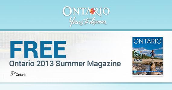 Free Ontario 2013 Summer Magazine