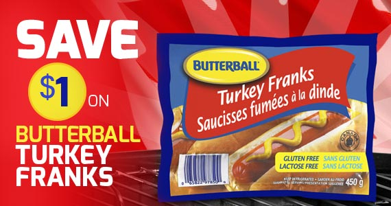Save $1 on Butterball Turkey Franks