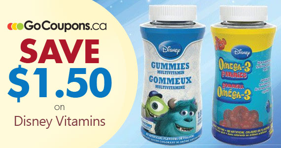 Save $1.50 on Disney Vitamins