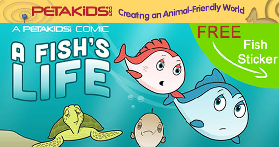 Free Fish Stickers from Peta Kids