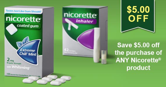 Save On Nicorette and Beat The Habit