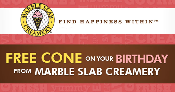 Free Cone on Your Birthday!