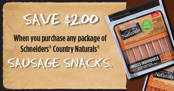 Save $2 on Schneiders Sausage Snacks