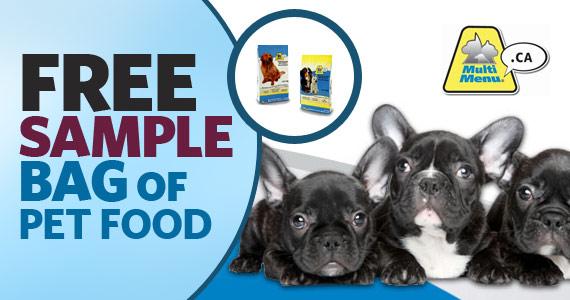 Free Sample Bag of Pet Food