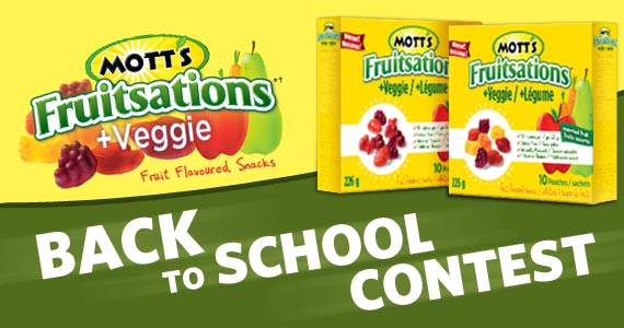 Mott's Fruitsations Back to School Contest