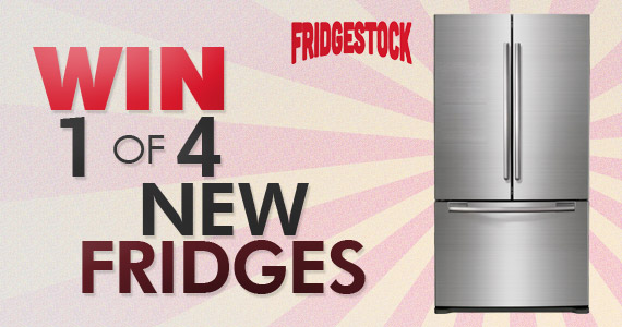 Win 1 of 4 New Fridges