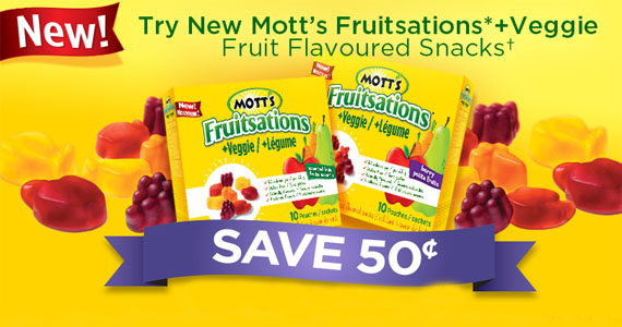 Save 50 Cents on Mott's Fruitsations Veggie