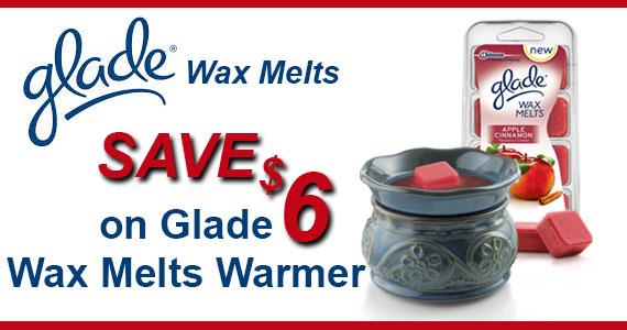 Save $6 on Glade Wax Melts Warmer