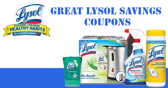 Great Lysol Savings Coupons