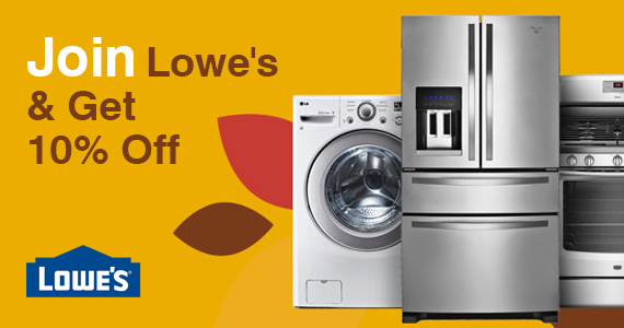 Join Lowe's & Get 10% Off