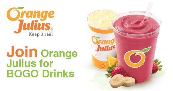 Join Orange Julius for BOGO Drinks