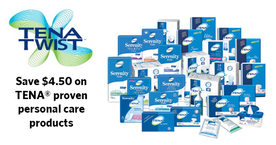 Save $4.50 on TENA Products