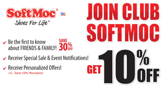 Join Club SoftMoc & Get 10% Off