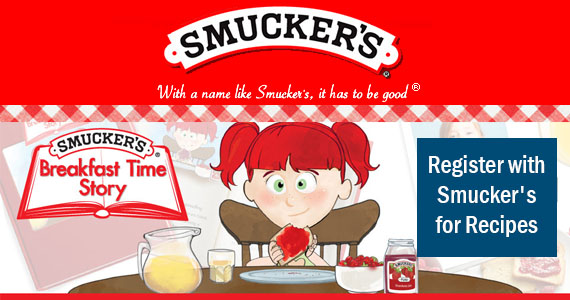Register with Smucker's for Recipes