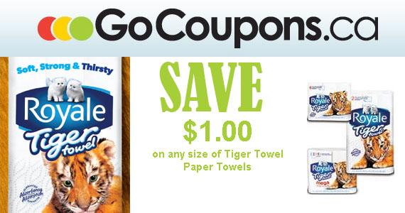 Save $1 on Royale Tiger Paper Towel