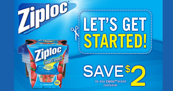 Save $2 on Any Ziploc Container