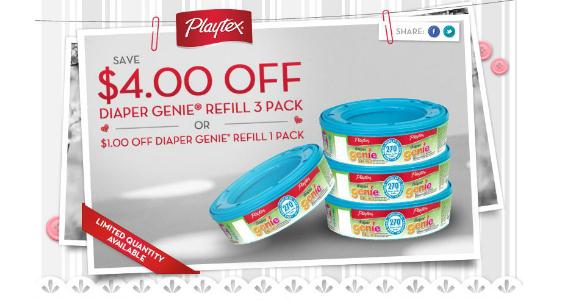 $4 Off Diaper Genie Refill 3 Pack