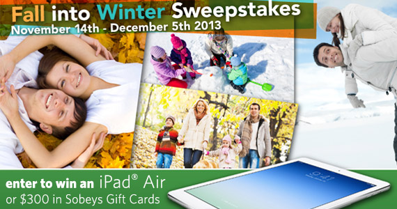 Fall into Winter and Win A MacBook Air