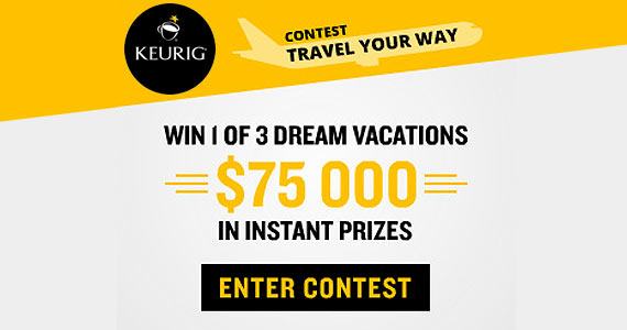 $75,000 in Instant Prizes From Keurig