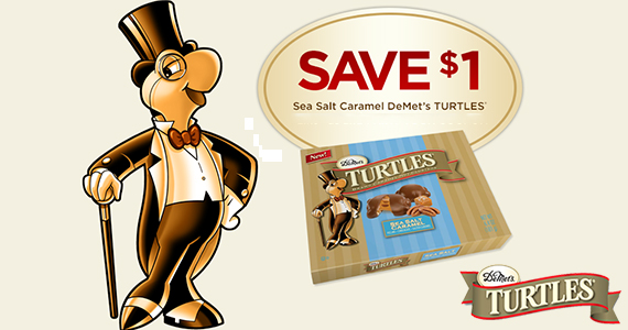 Save on DeMets Sea Salt Caramel Turtles