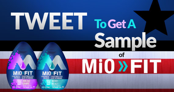 Tweet To Get A Sample of MiO Fit