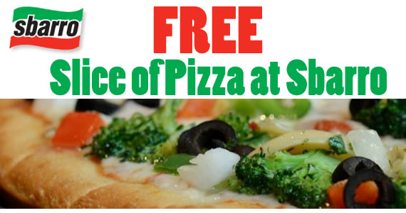 Free Slice of Pizza at Sbarro