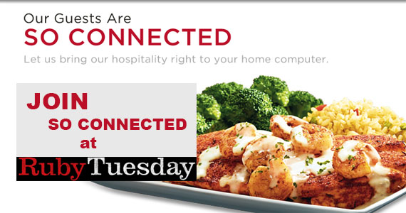 Join So Connected at Ruby Tuesday