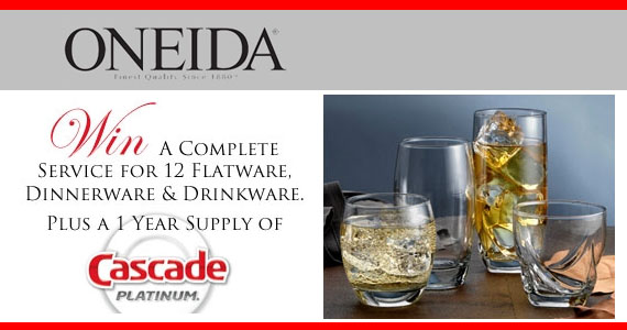 Oneida Table Service Giveaway