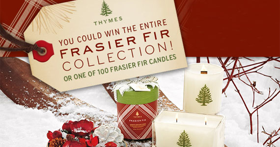 Thymes 2013 Holiday Sweepstakes