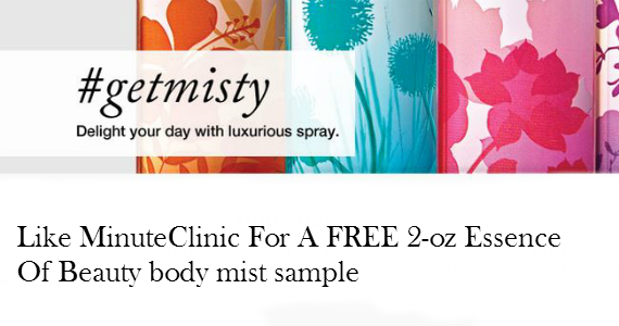 Free Sample Of Essence of Beauty Body Mist