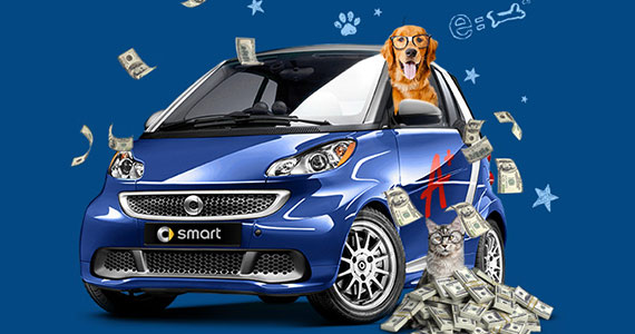 Win A Smart Car Or $15,000 Cash