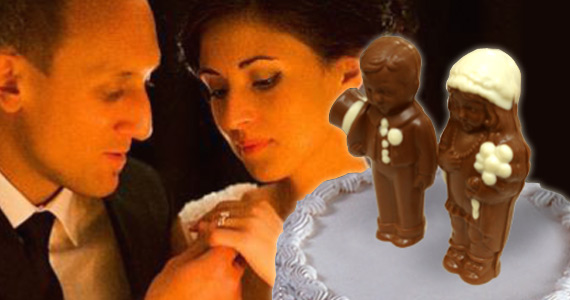 Win A Swiss Chocolate Wedding Cake Topper