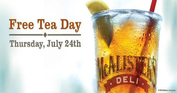 Free Tea Day – July 24th